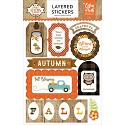 Echo Park - A Perfect Autumn - Layered Stickers