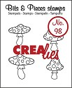Clearstamp - Crealies - Bits & Pieces - nr 98 Mushrooms