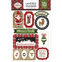 Echo Park - A Perfect Christmas - Layered Stickers