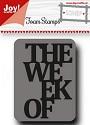 Noor! Design - Scr@p! - Foam stempel The week of...