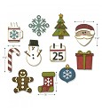 Stansmal Sizzix - Thinlints - Mini Christmas Things