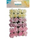 Joy! Crafts - Artificial Flower - Roosjes l.geel/lila/rose
