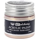 Finnabair Art Alchemy - Acrylic Paint 1.7 Fluid Ounces - Opal Magic Rose/Gold