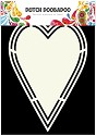 Dutch Doobadoo - Dutch Shape Art - Heart Tag