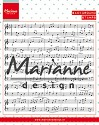Marianne Design - Clearstamp Background: Music notes
