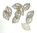 Metal Art - Bladeren brons 4,5 cm - 10 stuks