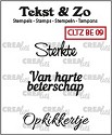 Clearstamp Crealies - Tekst & Zo - Beterschap 9