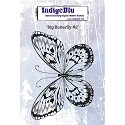 Indigo Blue - Rubber Stamp - Big Butterfly #2