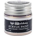 Finnabair Art Alchemy - Acrylic Paint 1.7 Fluid Ounces - Opal Magic Violet/Gold