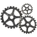 Steampunk buttons - Silver Gears 20/Pkg