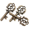 Steampunk buttons - Antique Gold Key 15/Pkg
