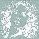 Mask Stencil - Pronty - Silhouette Woman
