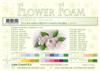 Leane Creatief - Flower foam sheets a4 Off White