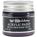Finnabair Art Alchemy - Acrylic Paint - Metallique - Dark Velvet