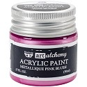 Finnabair Art Alchemy - Acrylic Paint - Metallique - Pink Blush