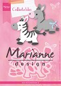 Marianne Design - Collectables - Eline`s zeebra & donkey