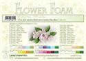 Leane Creatief - Flower foam sheets a4 Off White (10 vel)