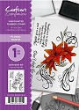 A6 Unmounted Rubberstempel - Crafter`s Companion - Floral Dance