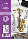 A6 Unmounted Rubberstempel - Crafter`s Companion - Saxophone Burst