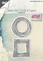 Joy! Crafts - Cutting & Embossingstencil - Sketch Art - Circle & Squares