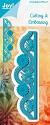 Noor! Design - Blauwe mal - Border Butterfly & Daisies