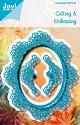 Noor! Design - Blauwe mal - Ovaal met sierrand