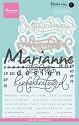 Marianne Design - Clearstamp & Stans - Karin Joan / Gefeliciteerd