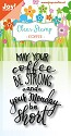 Noor! Design - Clearstamp - Coffee text - Monday