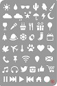 Pronty - Bullet Journal Stencil Icons