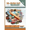 3D Push Out Book - A man's world