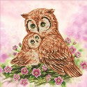 Diamond Dotz - 42 x 42 cm - Mother & Baby Owl - DD7.004