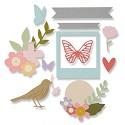 Sizzix - Thinlits Die Set - Floral Banner set (27pk)