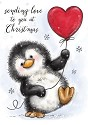 Clearstamp - Wild Rose Studio`s - A7 Penguin with Heart