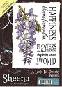 A6 Unmounted Rubberstempel - Sheena Douglass - Wisteria
