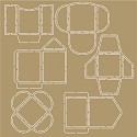 Noor! Design - Scr@p! - Stencil Mini envelopes