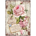 Stamperia - Rice Paper A4 - Sweet Time Rose