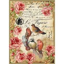 Stamperia - Rice Paper A4 - Le Figaro Birds