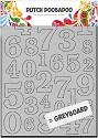 Dutch Doobadoo - Dutch Greyboard Art - A6 Numbers