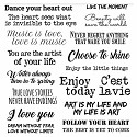 Stamperia - Adhesive Paper 8x8 Inch - Love Phrases
