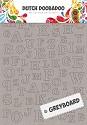 Dutch Doobadoo - Greyboard Art - A4 Alfabet