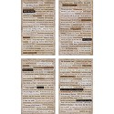 Tim Holtz - Idea-Ology - Clippings Stickers - Halloween