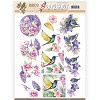 3D Pushout - Jeanine`s Art - Birds and Flowers - Tropical birds