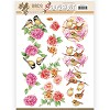 3D Pushout - Jeanine`s Art - Birds and Flowers - Pink birds