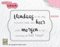 Nellies Choice - Clearstempel Sentiments - Vandaag is de dag...