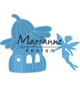 PRE-ORDER 9 - Marianne Design - Creatables - Fairy flower house