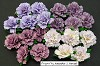 WOC Flowers - Mixed Purple/Lilac Carnation Flowers - 25mm
