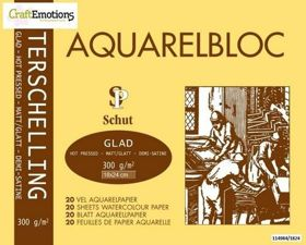 Aquarelpapier Terschelling - Glad Schut - 300 grams - 18 x 24 cm