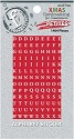 Ruby Rock-It - Fundamentals Petites Alphabet Stickers - Christmas Red