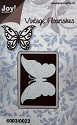Noor! Design -  Vintage Flourishes - Vlinder