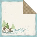 Scrappapier Carta Bella - Winter Fun - Little Sledders